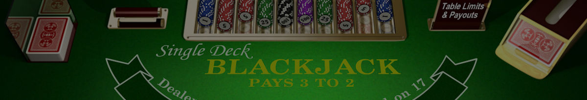 Blackjack med en kortlek